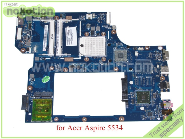 Mb. pju02.001 mbpju02001 nal00 la-5401p placa madre del ordenador portátil para acer aspire 5534 5538 amd ddr2 integrado de 1 puertos usb a bordo