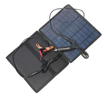 5 5W 18V przenośne uniwersalne panele słoneczne bateria klasy polikrystaliczny krzem panele słoneczne ładowarka solarna do 12V akumulator samochodowy tanie i dobre opinie Panel słoneczny GOLDFOX 230*210*3MM Krzem polikrystaliczny A2887@#Aiguo