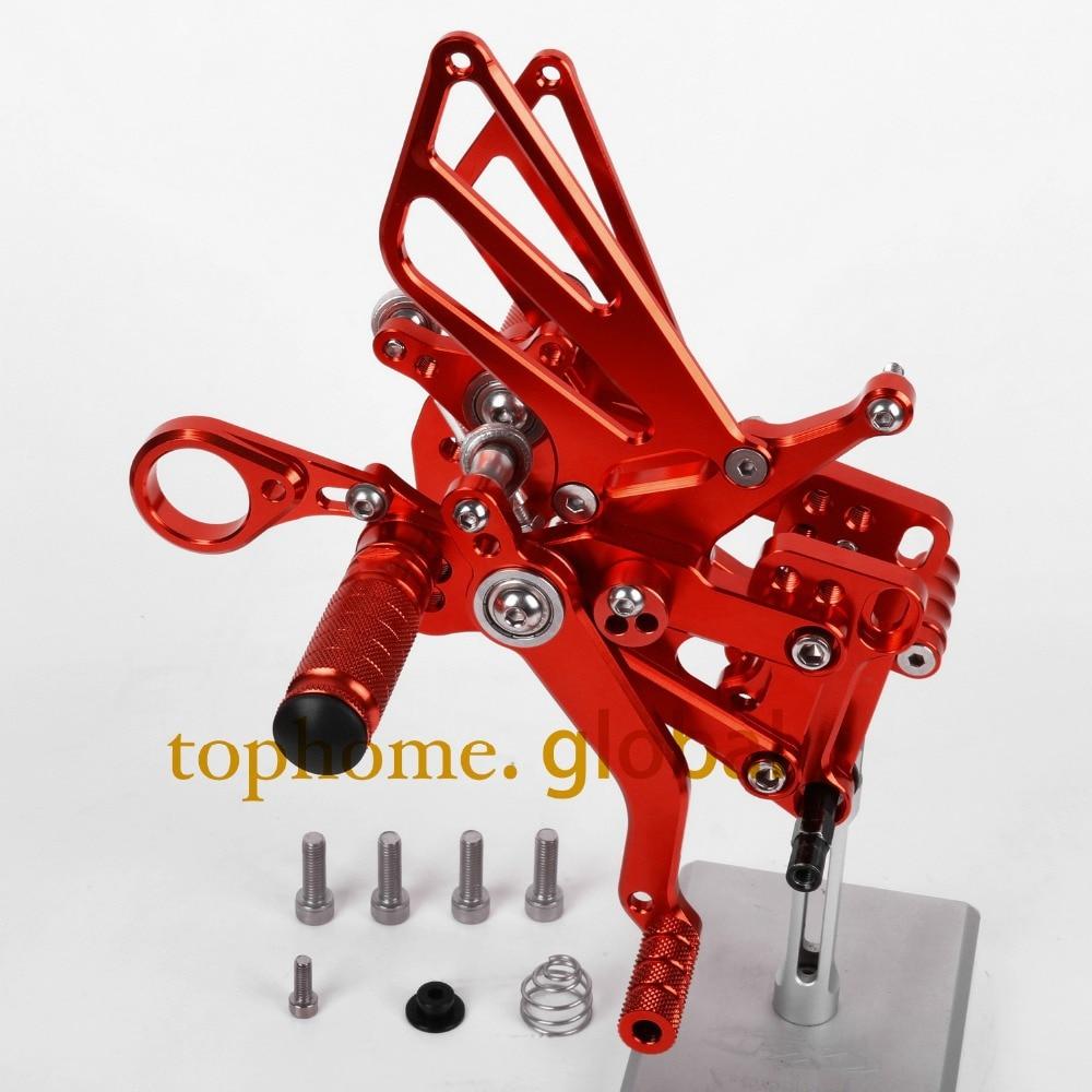Для BMW S1000RR 2009 - 2014 мотоцикл частей ЧПУ Rearsets подножки задний комплект Красный Новый