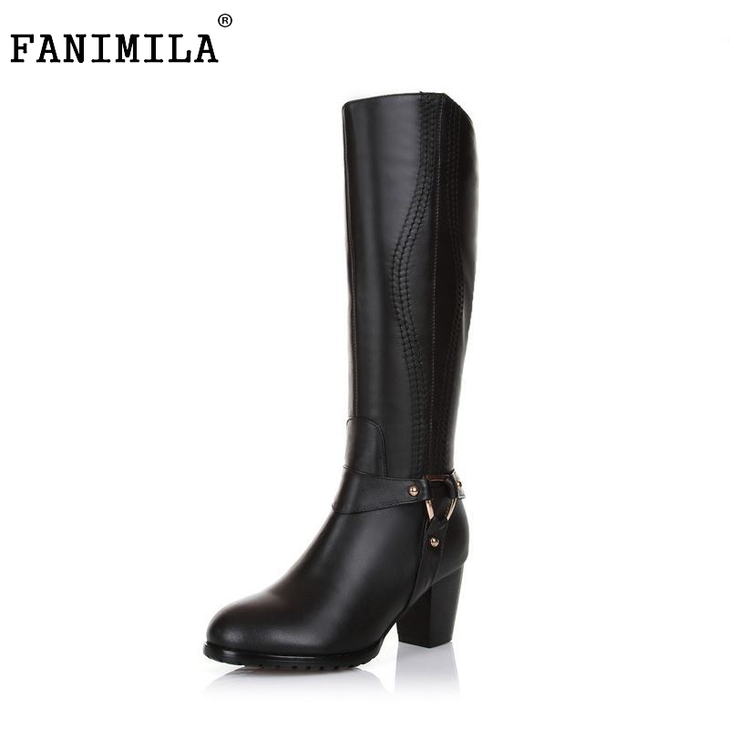 Free shipping over knee natural real genuine leather high heel boots women snow long warm shoes R4634 EUR size 31-45 free shipping 2017 breathable id 108756 108877 size eur 36 45