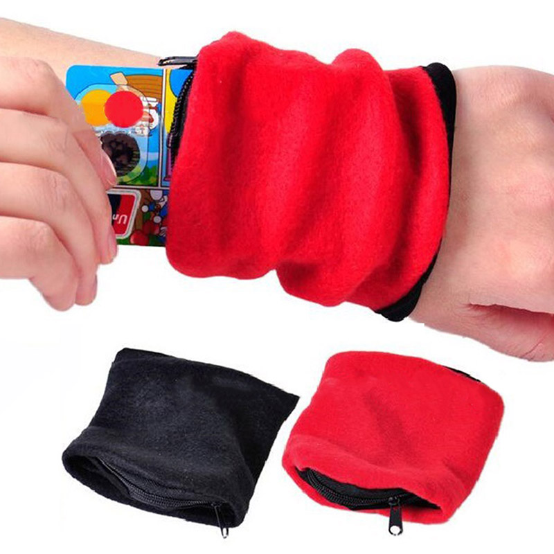 Hot Sale 1 PC Multifunctional Wrist Wallet Pouch Outdoor Running Cycling Wrist Band Wallet Safe Storage Wallets Zipper Wrap