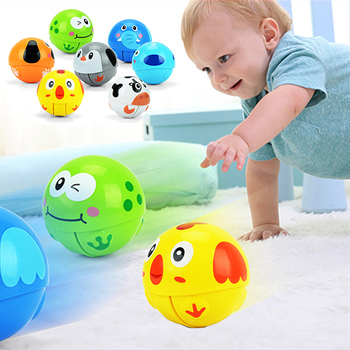 Baby Toy Ball 3+ Months Cartoon Animal Running Tumbler  Bebe Toys For Babies Baby Rattles With Package