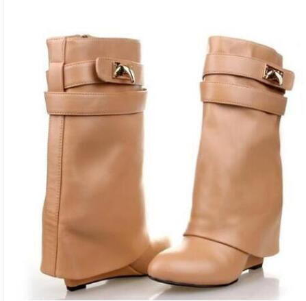 Hot Fashion All kinds of colour Genuine Leather Mid-Calf Shoes Pointed Toe Zip  Womens Shoes Wedges Big Size Womens BootsHot Fashion All kinds of colour Genuine Leather Mid-Calf Shoes Pointed Toe Zip  Womens Shoes Wedges Big Size Womens Boots