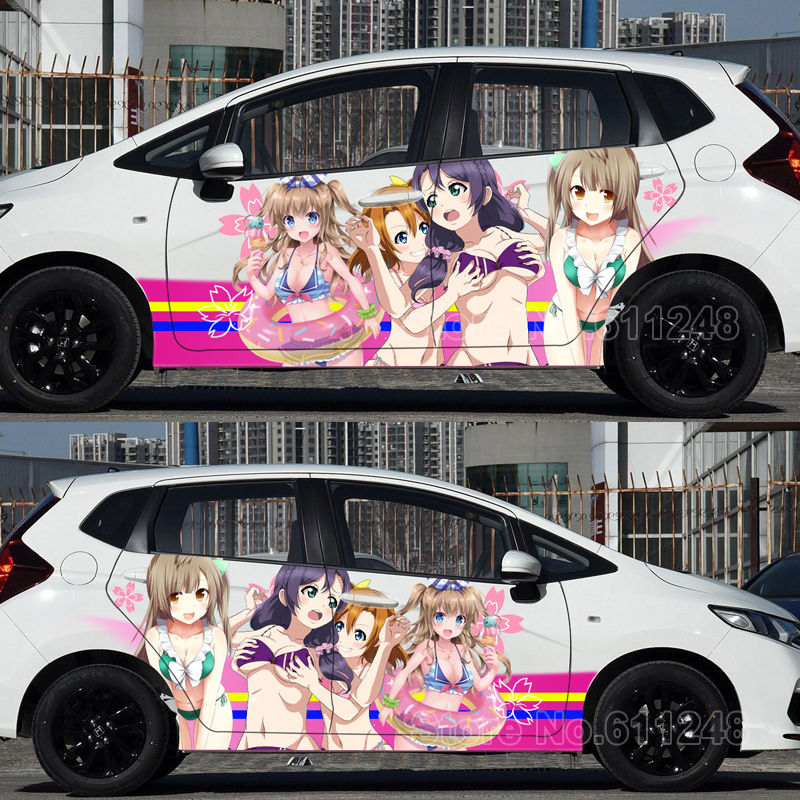 <font><b>Car</b></font> Inkjet Stickers <font><b>Sexy</b></font> ITASHA Japanese <font><b>Anime</b></font> Love Live! Auto Hood Body Sticker Decals Door Protective Film image