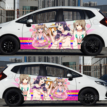 Car Inkjet Stickers Sexy ITASHA Japanese Anime Love Live! Auto Hood Body Sticker Decals Door Protective Film цены онлайн