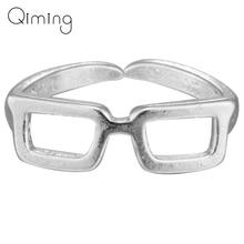 Anillo nuevo Vintage personalizado para mujer, diseño de gafas con ojo hueco para mujer, anillos de regalo al por mayor