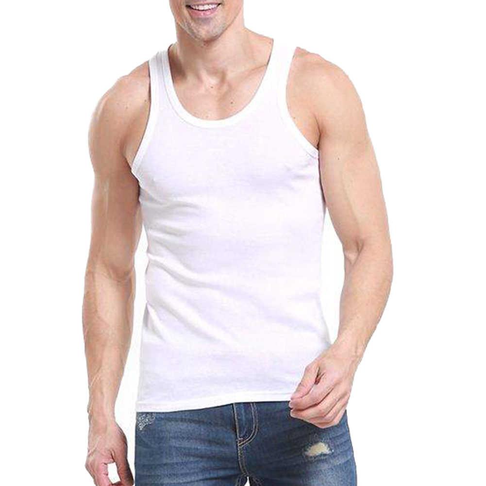 عادية جيليه الرجال س الرقبة تانك القمم الصيف الذكور كمال الاجسام سترة دون أكمام اللياقة البدنية الرجال الملابس جديد شيك فينتا