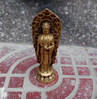 Antique antiques Collectible Handwork Old Bronze Carved Buddha Statue/Chinese Ming Dynasty Buddha head Sculpture