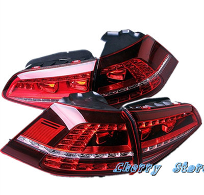 4 Pcs LED Dark Red Taillights Tail Lamps Tail Light Set Suitable For VW Golf 5G0 945 207 A 5G0 945 208 A 5G0 945 307 A 5G0 945 new high quality 1 piece led dark red tail lamp tail light right fit for vw golf gti r mk7 2013 2016 5g0 945 208 5g0945208