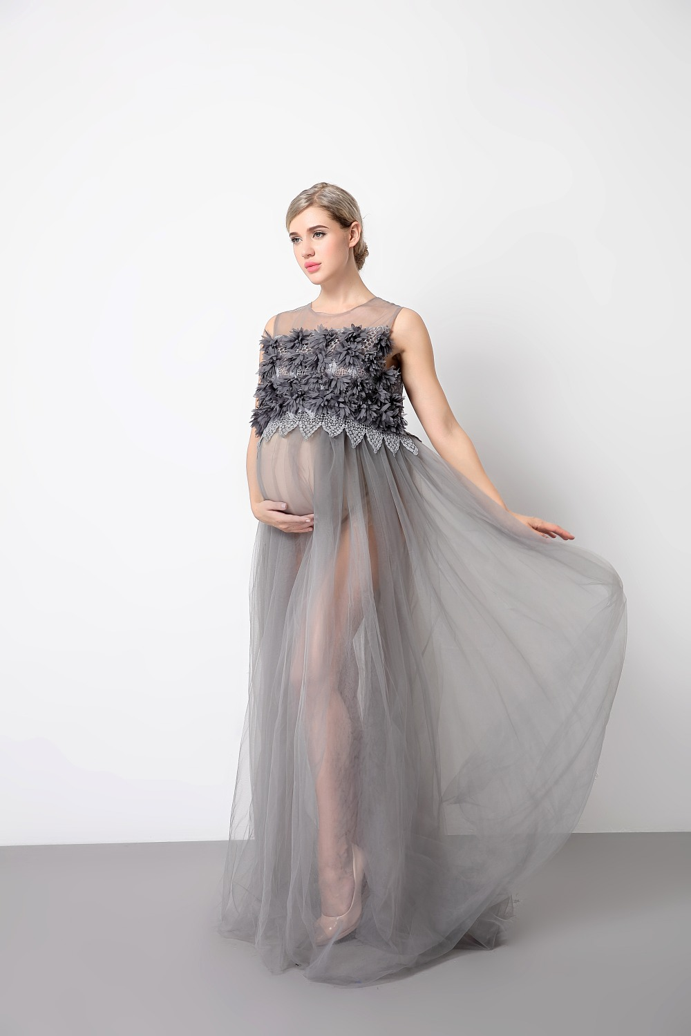 Floor length pregnancy dress for shoot lace maternity photography floor length pregnancy dress for shoot lace maternity photography props maxi maternity dress for baby showers in dresses from mother kids on ombrellifo Images