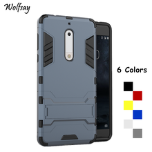 Wolfsay For Cover Nokia 5 Case TA-1008 TA-1030 Robot Armor Phone Silicone Cases