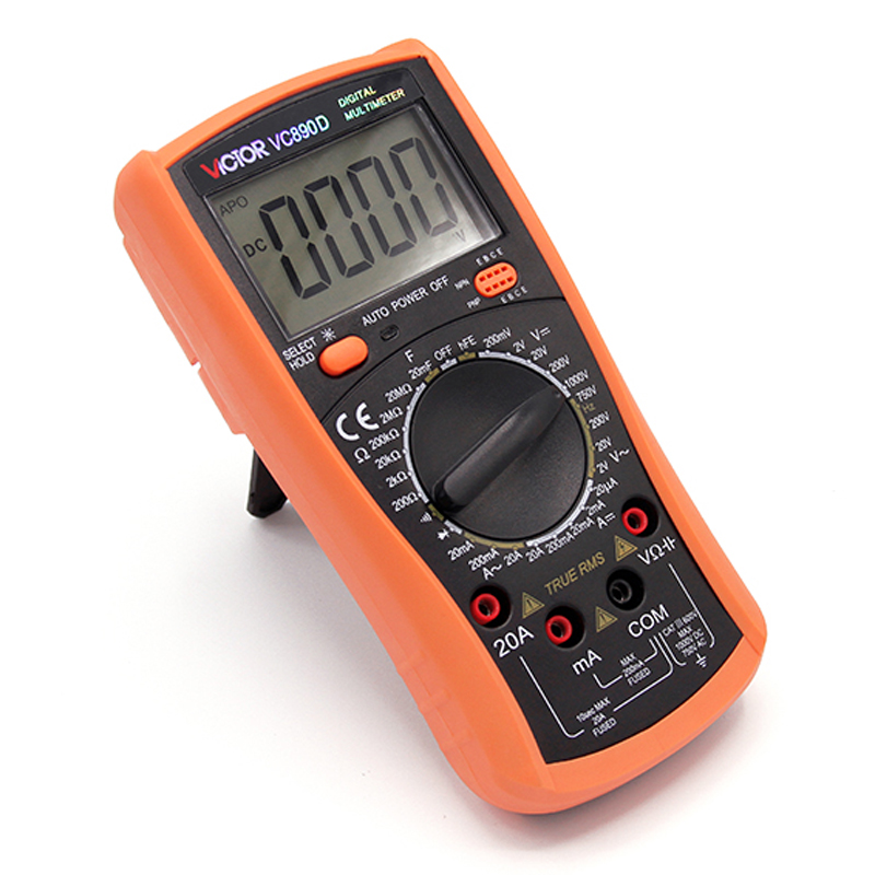 VICTOR VC890D Digital Multimeter True RMS 2000uF Backlight Tester capacitance meter WITH RETAIL BOX professional victor vc890c digital multimeter true rms multimeter 2000uf capacitor temperature measurement