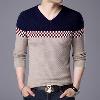 Autumn And Winter Men S Korean Fashion Students Young Round Necklace Woolen Long Sleeve Casual All