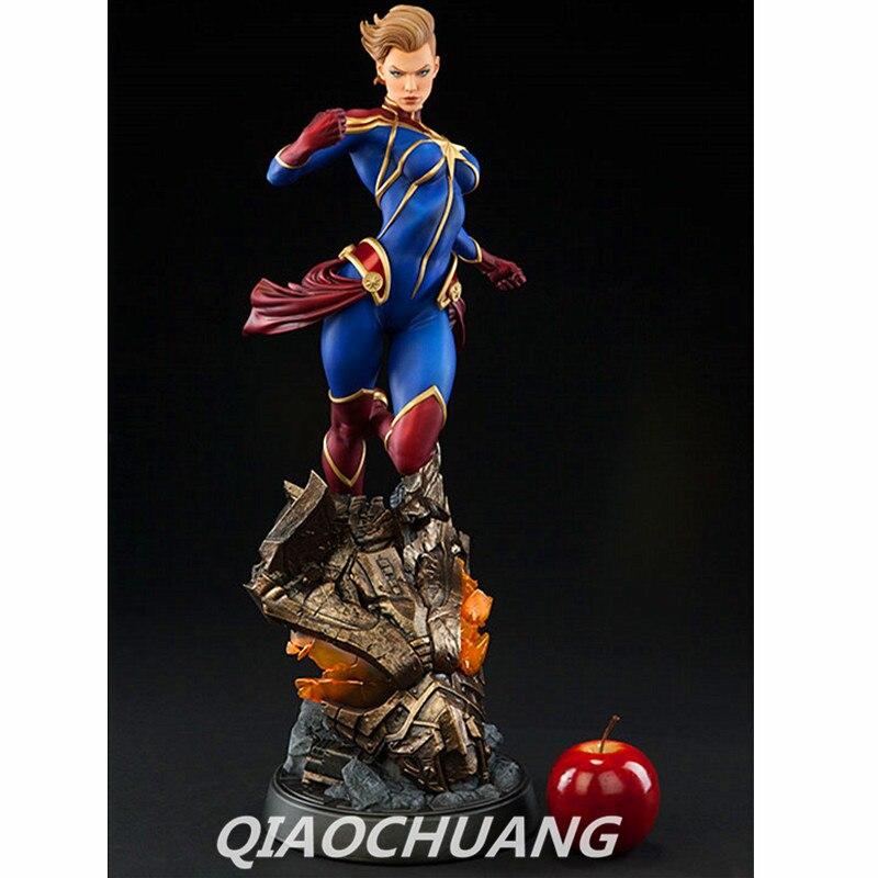Avengers Statue super-héros capitaine Marvel buste 1:2 mme Marvel pleine longueur Portrait résine figurine à collectionner modèle jouet W252