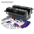 WORKPRO 183 PC caja de Metal herramienta casa mano herramientas destornillador tomas alicates llaves