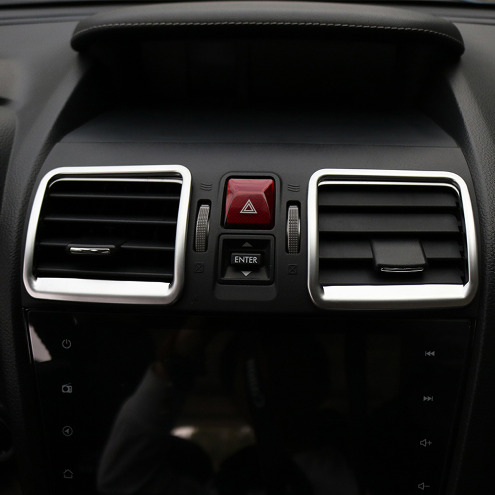 Car Middle Console Air Vent AC Dashboard Cover Trim For Subaru Forester SJ 2014 2015 2016 2017 2018 Accessories Car Styling