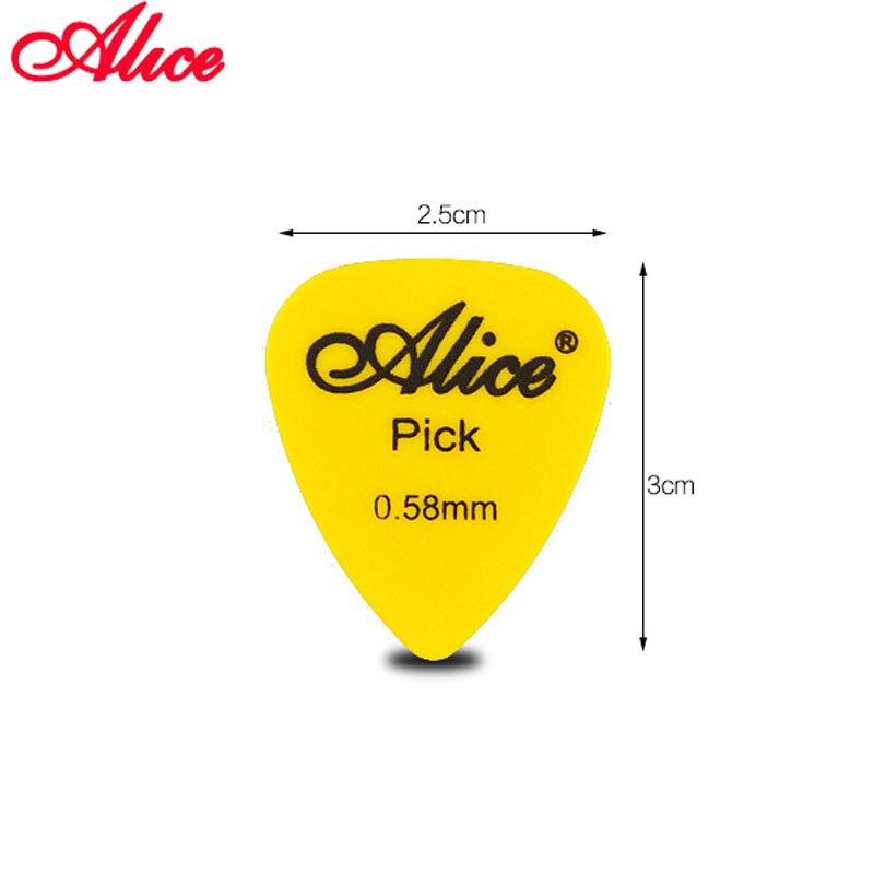 Alice Non slip ABS Guitar Picks Plectrum Gauge 0 58mm 0 71mm 0 81mm 0 96mm 1 20mm 1 50mm Color Random Guitar Parts Accessories in Guitar Parts Accessories from Sports Entertainment