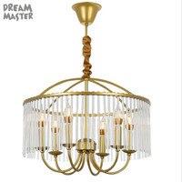Candelabro de ouro industrial lâmpada lustre iluminação  anel cristal moderno lustre  nordic 4 6 8 vela luzes lustres