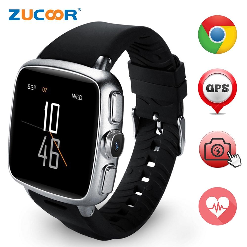 Heart Rate Smart Watch Wristwatch Reloj Inteligente Z01 Support 3G SIM TF Card WIFI GPS MP3 MP4 Fitness Traker Bluetooth Camera f2 smart watch accurate heart rate