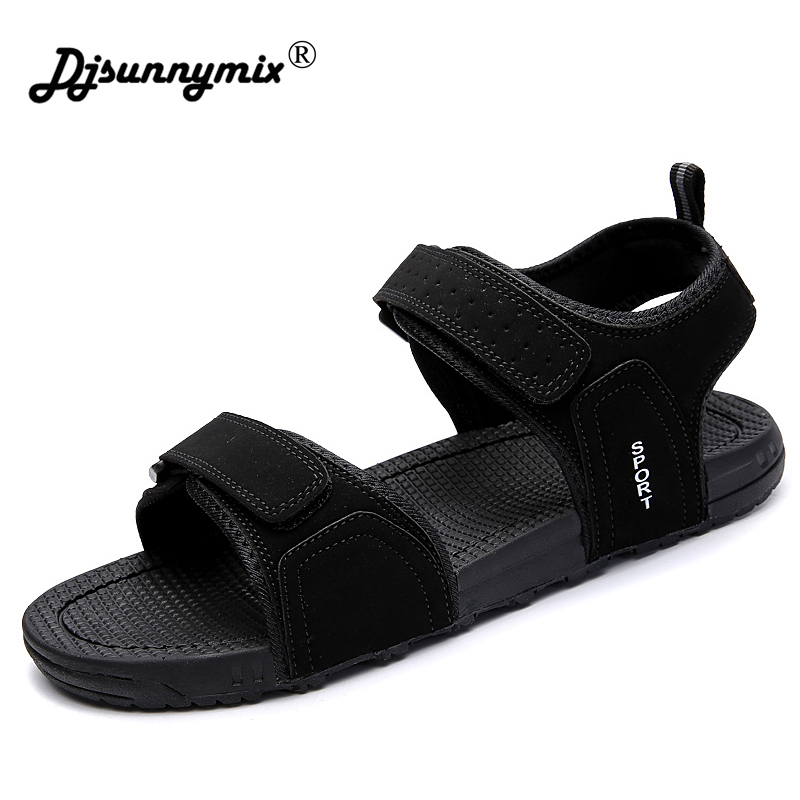 DJSUNNYMIX Summer Fashion New Style Men Sandals Comfortable Breathable Casual Sandals Shoes For Men Brand цена 2017