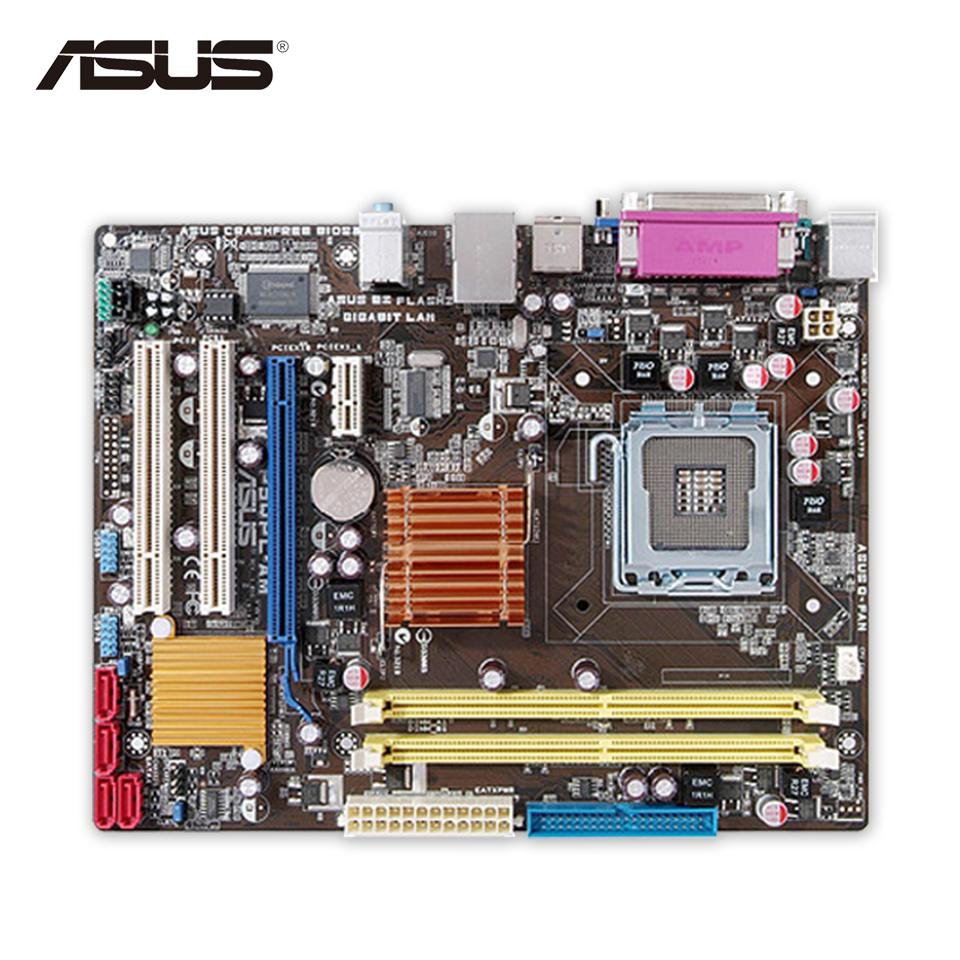 Asus P5QPL-AM Original Used Desktop Motherboard G41 Socket LGA 775 DDR2 8G SATA2 USB2.0 uATX цена