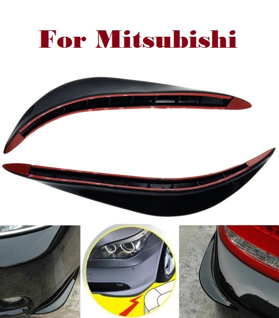 2PCS Car PVC jackknifed bumper Strips Scratches for Mitsubishi Galant i i-MiEV Lancer Lancer Cargo Evolution Ralliart Minica автомобиль mitsubishi lancer evolution 8