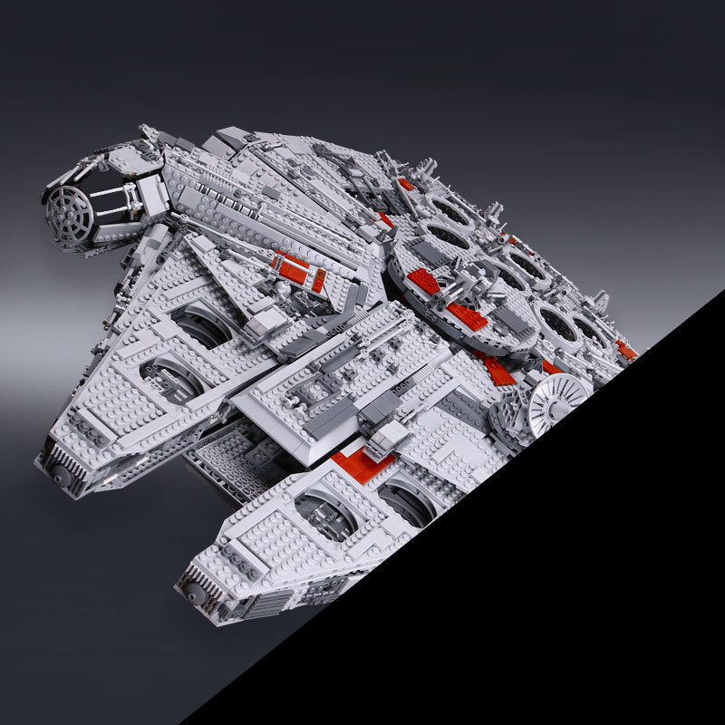 LEPIN 05033 5265Pcs Star Series War Ultimate Collector's Millennium Toy Falcon Model Building set Blocks Bricks Set Toy 10179 lepin 05033 5265pcs star ultimate kits collector s millennium toys falcon model building blocks bricks kids war toys gifts 10179
