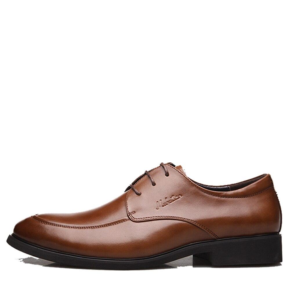 Robe Hommes Black Véritable Marque brown Pour Chaussures En De Qualité Oxford Haute Affaires Nouveau Qffaz Cuir Mariage À Lacets TX45Sq