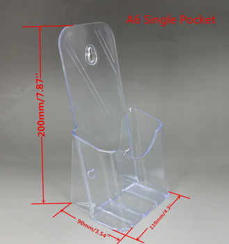 Clear Acrylic A6 DL Phamplet Pocket Plastic Brochure Literature Display Holder Stand To Insert Leaflet On Desktop 10pcs