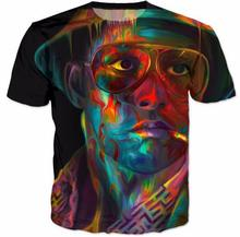 Sondirane New Womens/Mens Fear and Loathing In Las Vegas 3D Print Casual T-Shirt Summer Short Sleeve Hip Hop Tops Tees Clothing