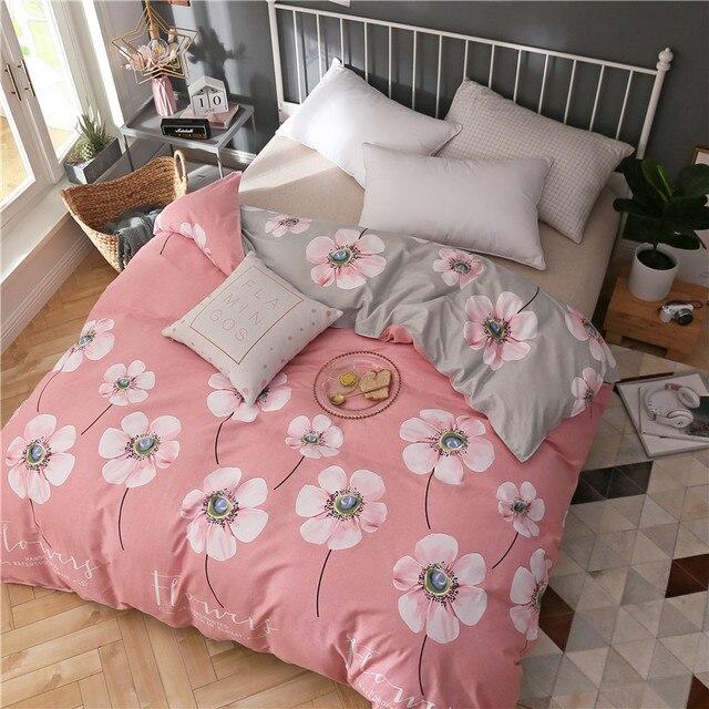 Новый 100% хлопок пододеяльник с цветами одеяло для кровати 220/240 twin полный размер король королева краткое стиль постельные принадлежности