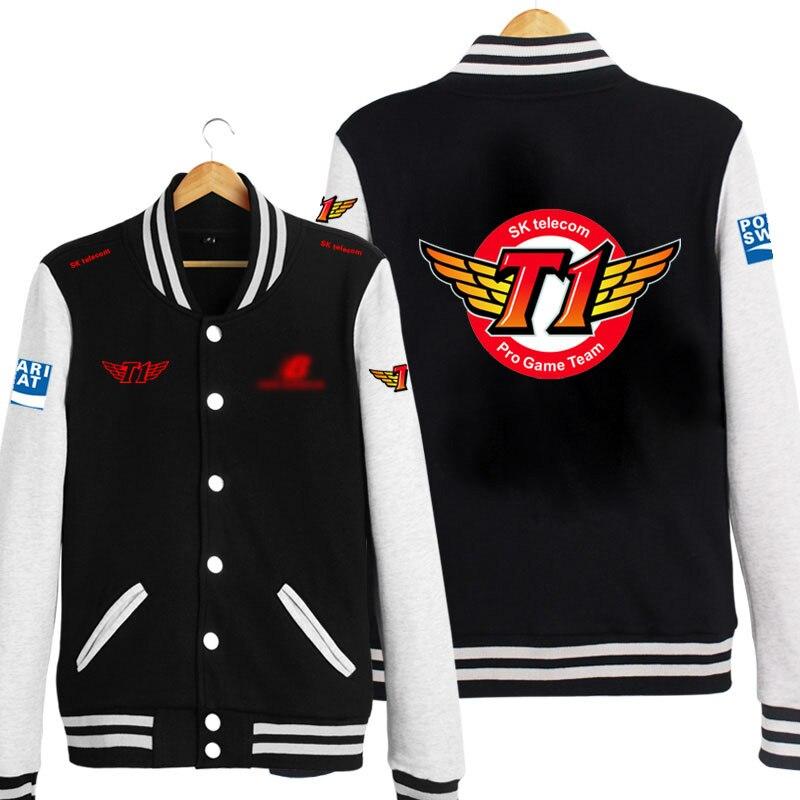SKT T1 Faker Marin LOL Cosplay Costume Unisex Long Sleeve Baseball Jacket/Coat/Hoodie Free Shipping S/M/L/XL/XXL/XXXL