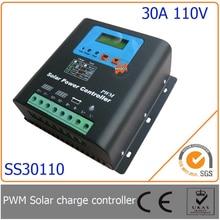 30A 110 В ШИМ Солнечный Контроллер Зарядки со СВЕТОДИОДОМ и ЖК-Дисплей, автоматическое Определение Напряжения, MCU дизайн с высокой производительностью