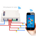 4 Channel WiFI Switch  Din Rail Mounting 4ch Wireless intelligent remote control 10A/2200W for smart home Automation