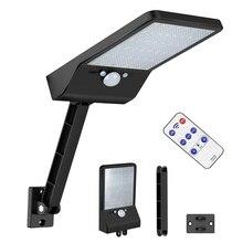 48leds Solar Light remote control rotate bracket solar street light Color Adjustable With Controller Three 3  garden