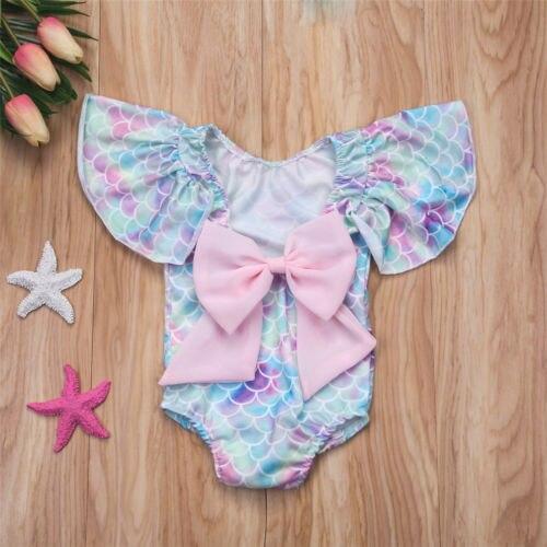 2018 Neue Nette Neugeborene Baby Mädchen Meerjungfrau Body One Piece Bademode Badeanzug Bikini Badeanzug Baby Kleidung