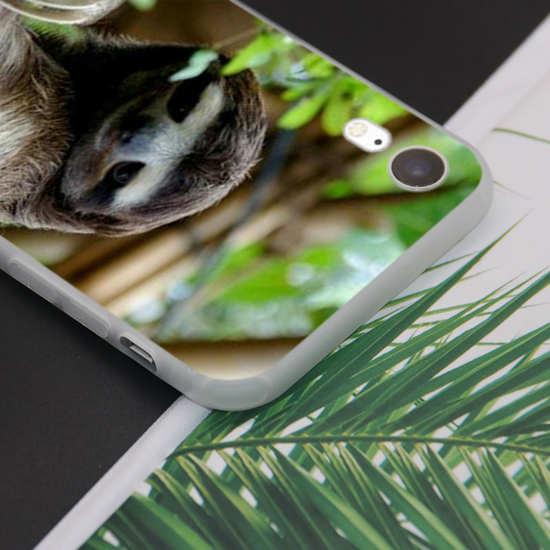 Silicone Phone Case Animal Sloth Fashion Printing for iPhone XS XR Max X 8 7 6 6S Plus 5 5S SE Phone Case Matte Cover in Fitted Cases from Cellphones Telecommunications