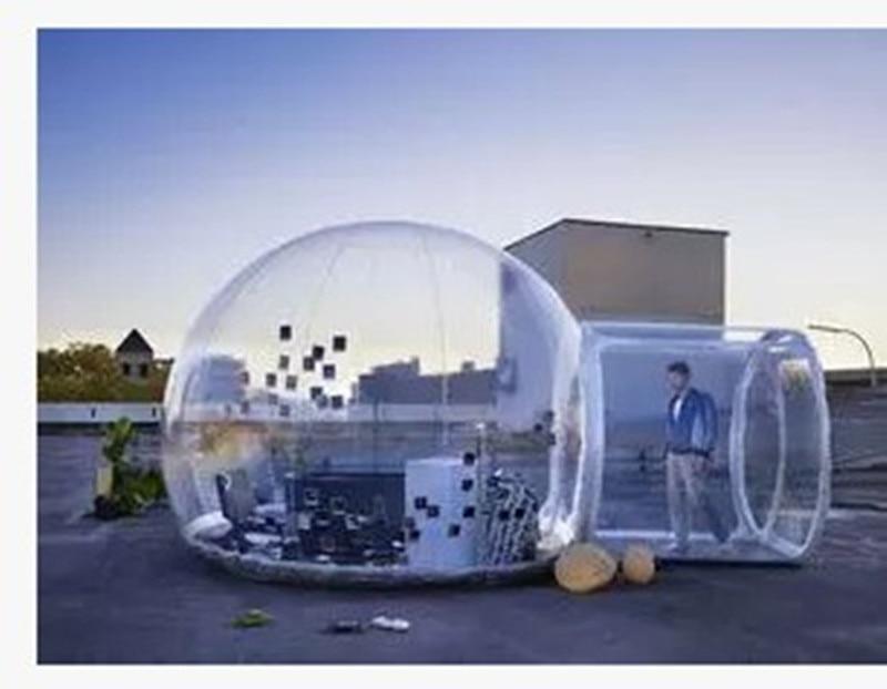 Gelembung luar tiup saluran tiup tenda transparan, Luar terowongan - Hiburan - Foto 3