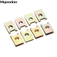 J98 20Pcs Car Fastener Clip Screw Base U Type Nut Mounting Clips Automobile Engine Fender Bumper Guard Plate Clamp 3mm