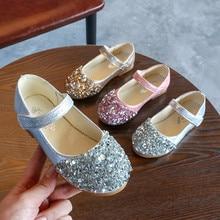 Детские осенние стразы; маленькие туфли; обувь принцессы с блестками; обувь принцессы для девочек; тонкие туфли; три цвета на выбор