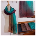 Verde brillante 10 unids/lote Envío Libre 180*90 cms viscosa de algodón de impresión bufanda del mantón Hijab Musulmán bufandas baratas