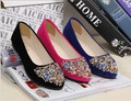 new 2014 brand pointed toe rhinestone women flats shoes for women and women's spring summer flat shoes #diamond A01