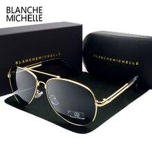 2017 High Quality Memory Metal Big Frame Pilot Sunglasses Men Polarized UV400 Sun Glasses Man Brand Driving oculos With Box