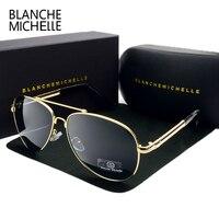 2017 High Quality Memory Metal Big Frame Pilot Sunglasses Men Polarized UV400 Sun Glasses Man Brand