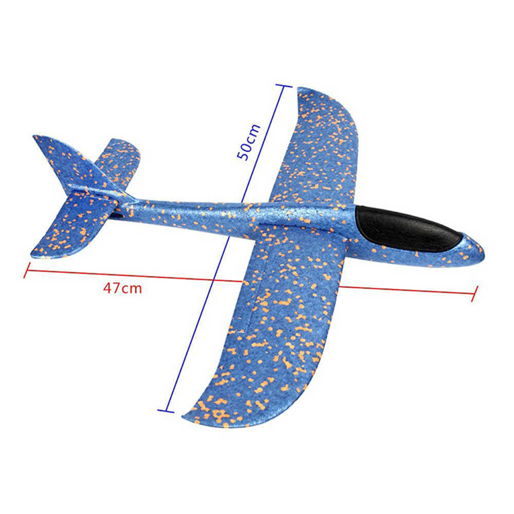 48cm Hand Throw Flying Glider Planes Foam Aircraft Model EPP Resistant Breakout Aircraft Party Game Children Outdoor Fun Toys