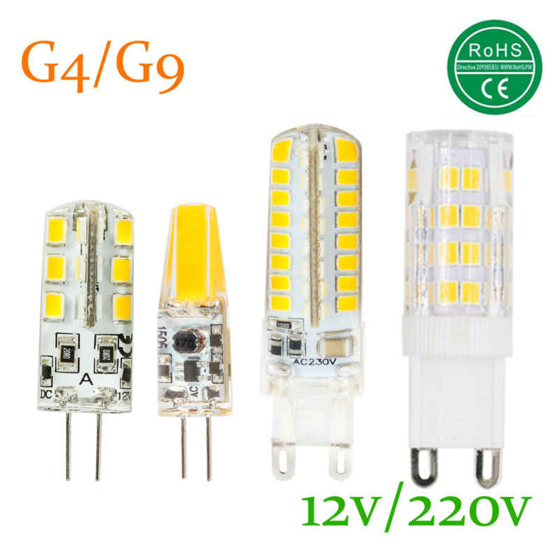 G9 G4 lampe à LED AC 220 V 230 V DC12V 3 W 5 W 8 W 9 W 2835SMD 3014 LED Ampoule 360 Angle de faisceau LED spot garantie