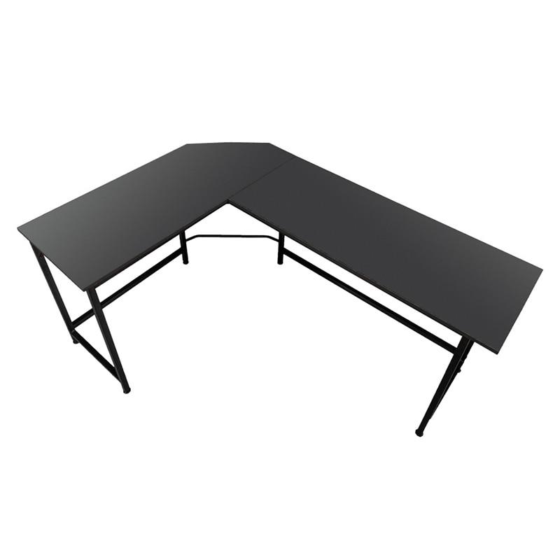 Noir En Forme de L ordinateur de bureau mobilier De Bureau de Bureau - 5