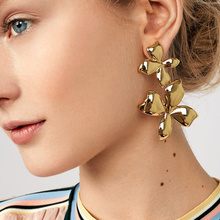 Joolim Jewelry Wholesale/Gold Color Flower Drop Earring Dangle