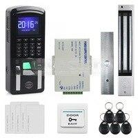 Diysecur tcp/ip USB отпечатков пальцев ID Card Reader пароль дверной Система контроля доступа + Питание + 280 кг магнитный замок