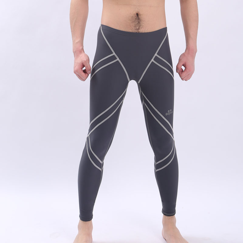 Long leg chlorine resistant/water proof mens swimsuits mens training racing swimming cycling pants